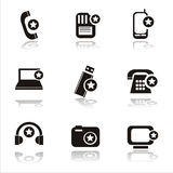 Technology with stars icons Stock Photo