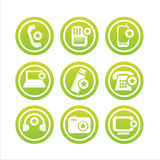 Technology with stars signs Royalty Free Stock Images
