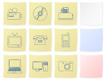 Technology sticker Stock Photos