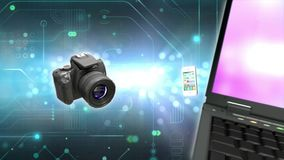Technology stock footage media devices stock video footage