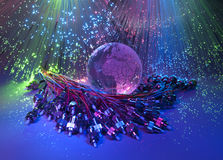 Technology style against fiber optic background Royalty Free Stock Image