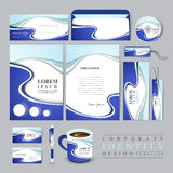Technology style corporate identity design template Royalty Free Stock Photos