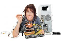 Technology support help me please! Royalty Free Stock Photography