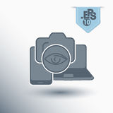 Technology symbol. Camera in modern devices icon Stock Photography