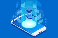 Technology for talk digital call. Creative virtual engineering mobile, ai concept. Can use as clipart or sticker for web banner, infographics, hero images Stock Image