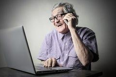 Technology talks Stock Image