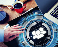 Technology Team People Hud Teamwork Concept Royalty Free Stock Images
