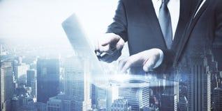 Technology and teamwork concept Stock Photos