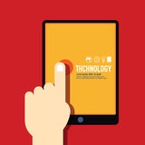 Technology template modern minimal flat design / vintage retro c Royalty Free Stock Photography