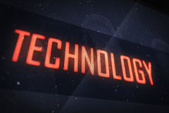 TECHNOLOGY text on virtual screens Royalty Free Stock Photography
