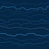 Technology texture. Light technology lines on dark blue background Stock Photo