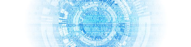 Technology background. Binary computer code.  Vector illustratio. Technology themed blue background. Binary computer code. Creative vector illustration Royalty Free Stock Image