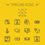 Technology thin line icon set Stock Photography