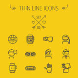 Technology thin line icon set Stock Images
