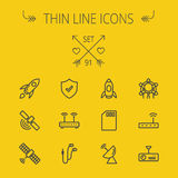 Technology thin line icon set Royalty Free Stock Images