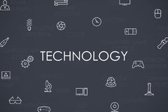 Technology Thin Line Icons Royalty Free Stock Images