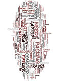 Technology For Travelers Text Background  Word Cloud Concept. TECHNOLOGY FOR TRAVELERS Text Background Word Cloud Concept Royalty Free Stock Image