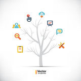 Technology tree, business and branching paths. Royalty Free Stock Images