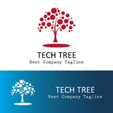 Technology tree logo Stock Image