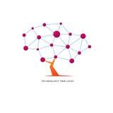 Technology tree logo Royalty Free Stock Photography