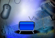 Technology and TV Stock Image