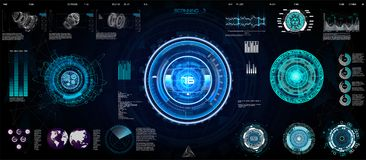 Technology Ui futuristic concept HUD, interface vector illustration
