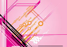 Technology vector. This image is a futuristic text place for your business.Specialy pink design for the female fashion Royalty Free Stock Photo