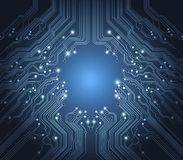 Technology vector abstract blue background Royalty Free Stock Photo