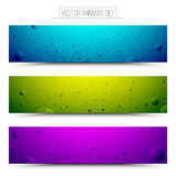 Technology Vector Colorful Web Banners. Set of technology vector colorful web banners. Internet advertising business. Connection structure. Technology vector Stock Image