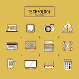 Technology Vector Icon Set Stock Photo