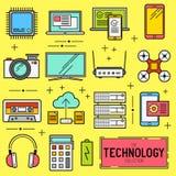Technology Vector Icon Set Royalty Free Stock Photo