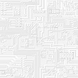 Vector light gray circuit board pattern Royalty Free Stock Photos