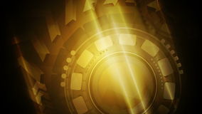 Technology video animation with arrows and gears stock video footage