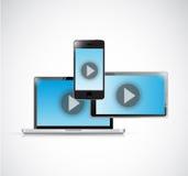 Technology video electronics. illustration design Stock Photo