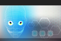 Technology virtual face Royalty Free Stock Images