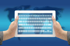 Technology Virtual Keyboard Interface Stock Photos