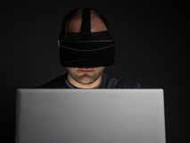 Technology and virtual reality addiction Royalty Free Stock Image