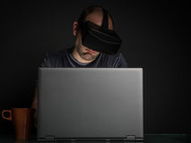 Technology and virtual reality addiction Royalty Free Stock Photography