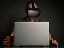 Technology and virtual reality addiction Royalty Free Stock Photo