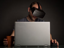 Technology and virtual reality addiction Stock Image