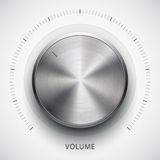 Technology volume button with metal texture Stock Images