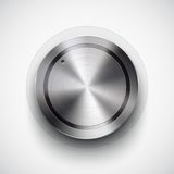 Technology volume button with metal texture Royalty Free Stock Photography