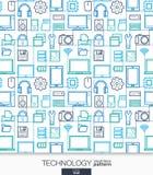 Technology wallpaper. Digital seamless pattern. Stock Image