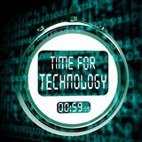 Technology Watch Touch Screen Shows Innovation Improvement And H Royalty Free Stock Photography