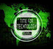 Technology Watch Touch Screen Shows Innovation Improvement Or Hi Stock Photography
