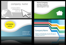 Technology web home designs in 4 up business cards Royalty Free Stock Image