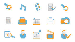 Technology and web icons Royalty Free Stock Image
