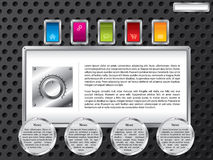 Technology web template with color buttons Royalty Free Stock Photo