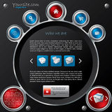 Technology web template design Royalty Free Stock Photos