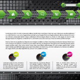 Technology web template design with gadgets Stock Photo